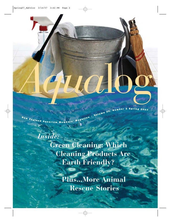 Aqualog Inside:     Green Cleaning: Which       Cleaning Products Are         Earth Friendly?         Plus...More Animal  ...