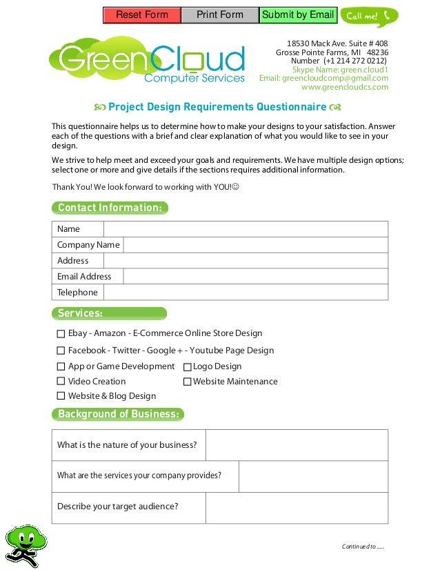Green cloud computer services request form final 2013