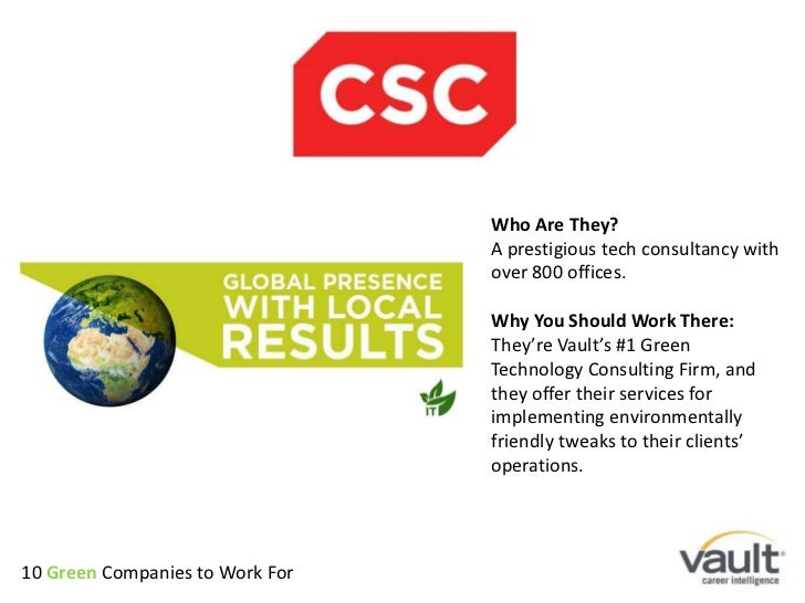 Who Are They? <br />A prestigious tech consultancy with over 800 offices. <br />Why You Should Work There:<br />They're Va...