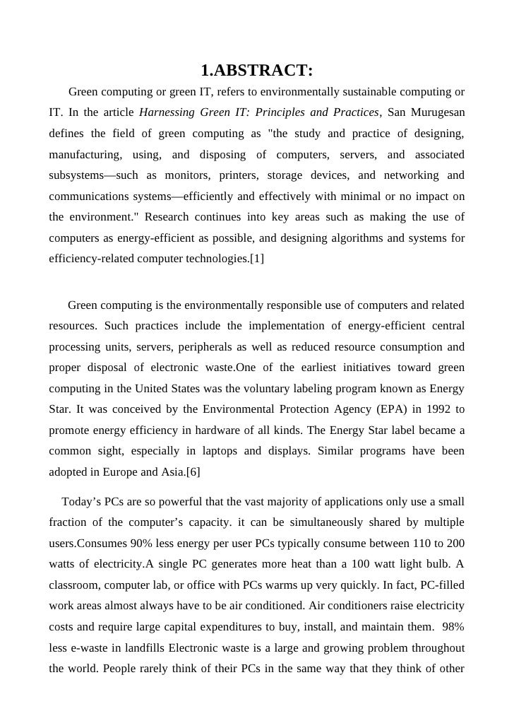 conclusion of green computing power management Power management in green computing conclusion : it has been control for domestic and commercial computing devices the power management.