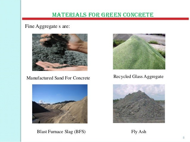 Blast Furnace Slag Aggregate Lightweight : Ppt on green concrete by pankaj kumar