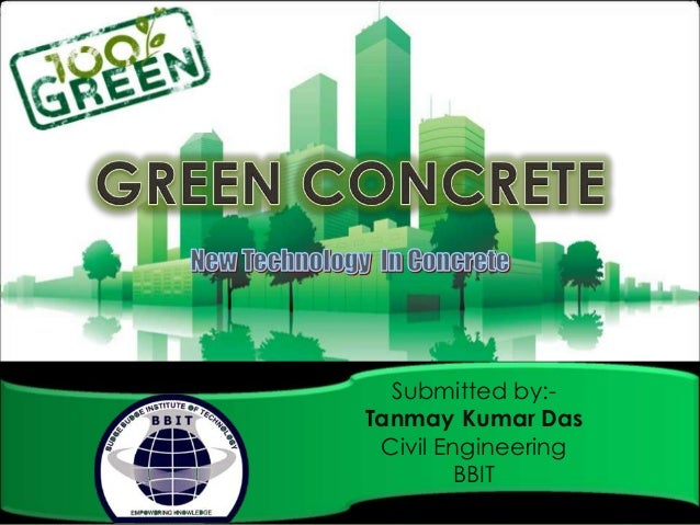 how to make green concrete