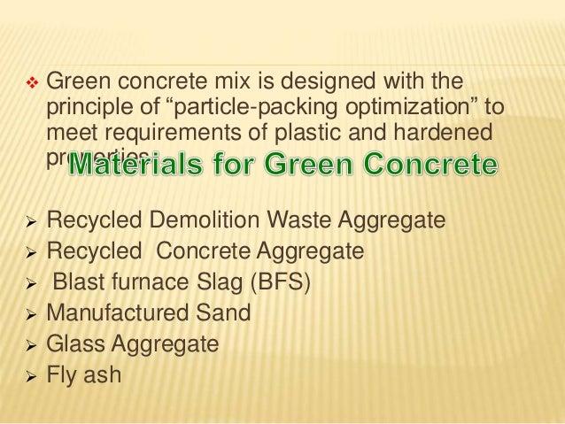 Blast Furnace Slag Aggregate Lightweight : Green concrete power point presentation