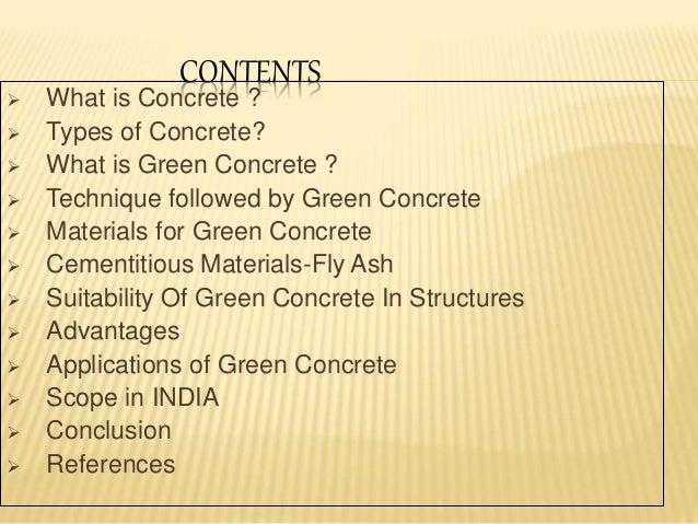 Green Concrete Power Point Presentation