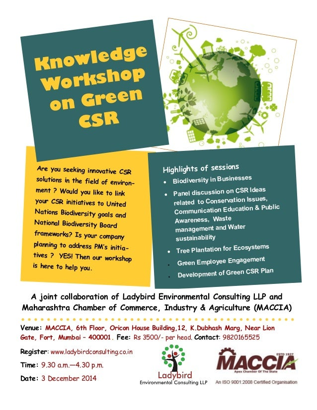 Are you seeking innovative CSR solutions in the field of environ- ment ? Would you like to link your CSR initiatives to Un...