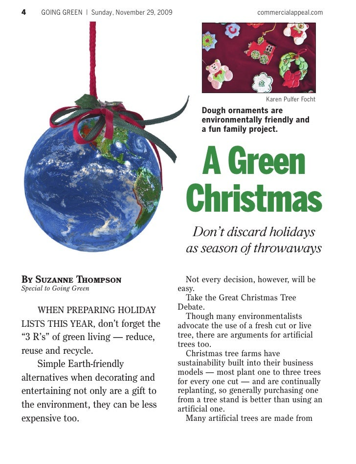 4     GOING GREEN | Sunday, November 29, 2009                         commercialappeal.com                                ...