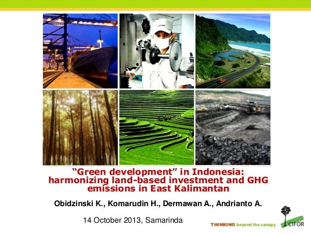 "THINKING beyond the canopy ""Green development"" in Indonesia: harmonizing land-based investment and GHG emissions in East K..."