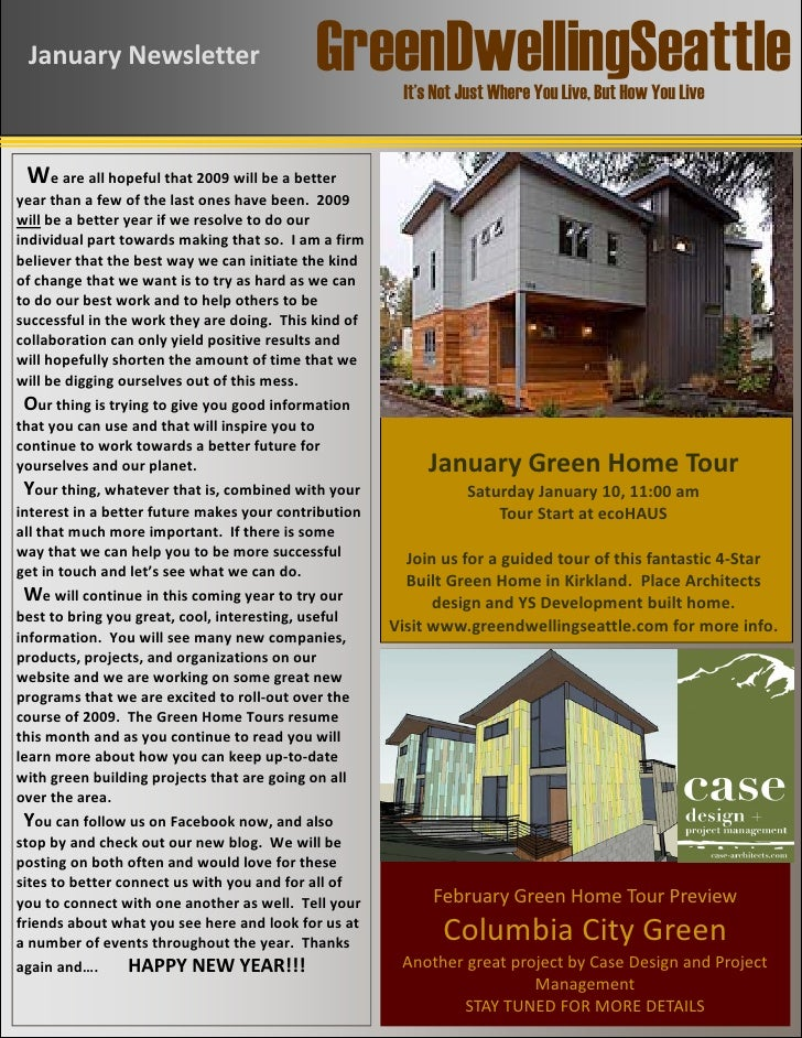 GreenDwellingSeattle JanuaryNewsletter                              ...