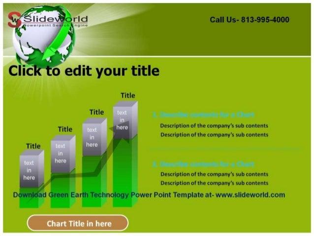 Clic powerpoint template bilder42 using slide master view in green earth technology powerpoint template toneelgroepblik Gallery