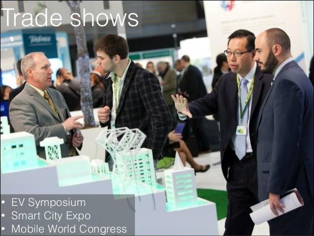 Trade shows  • • •  EV Symposium Smart City Expo Mobile World Congress