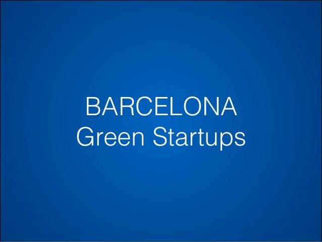 BARCELONA Green Startups