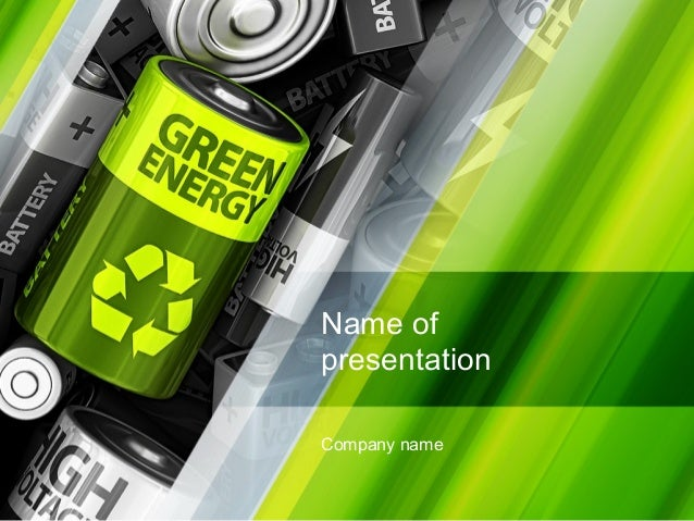 Green energy battery powerpoint template by poweredtemplatecom for Poweredtemplate