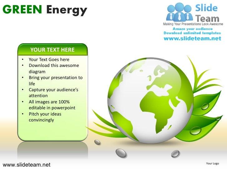 Green energy powerpoint ppt templates green energy toneelgroepblik Images