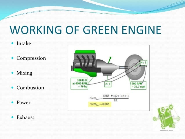 green engine Sustainable and green engine (sage) itd annual implementation plan 2012  2012 will be a key year for the sage itd, when critical decisions will be made.