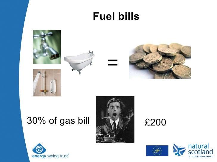 Fuel bills = 30% of gas bill £200