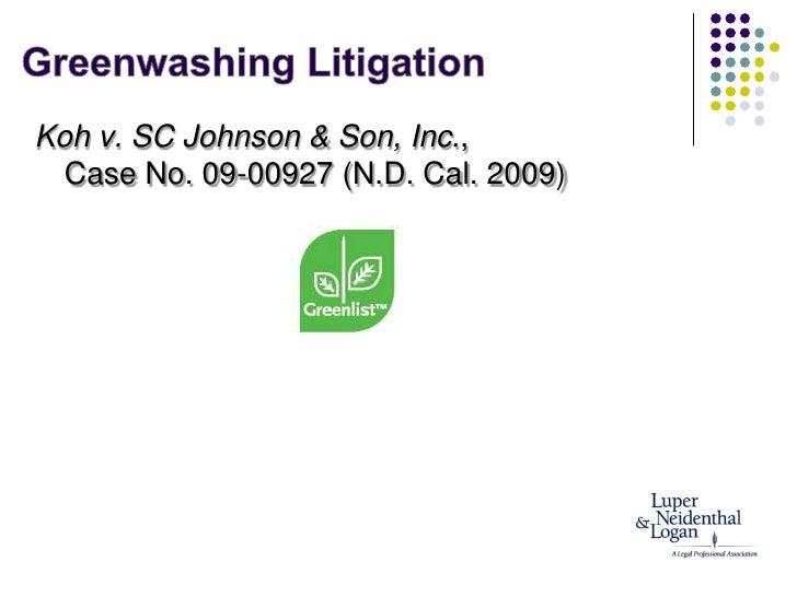 Unhelpful Punishment >> Green expo greenwashing presentation