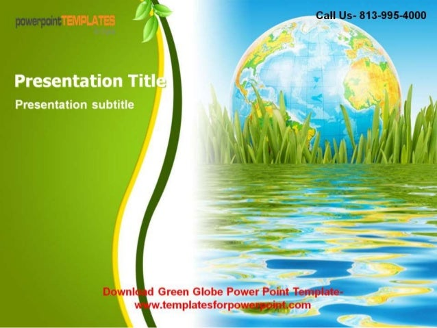 green globe powerpoint template, Powerpoint templates