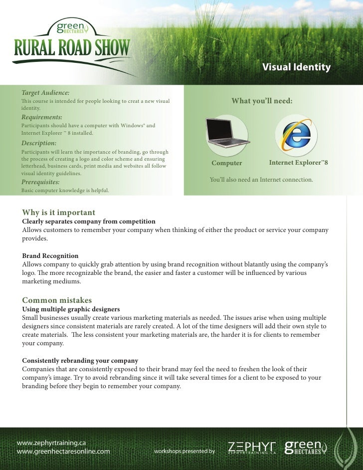 Visual IdentityTarget Audience:This course is intended for people looking to creat a new visual             What you'll ne...
