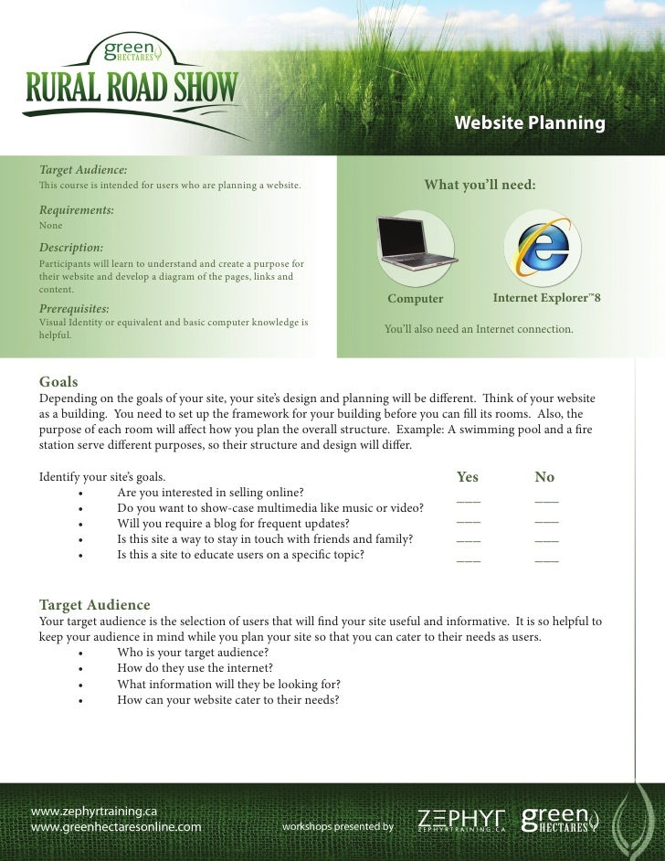 Website PlanningTarget Audience:This course is intended for users who are planning a website.                  What you'll...