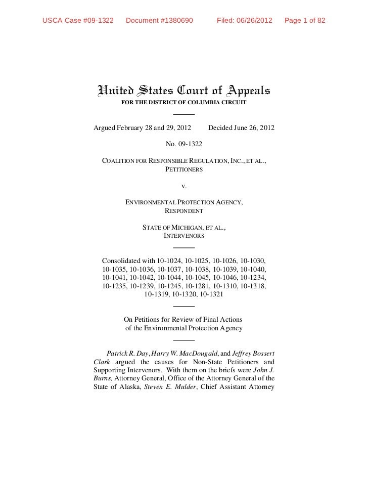 USCA Case #09-1322     Document #1380690              Filed: 06/26/2012      Page 1 of 82             United States Court ...