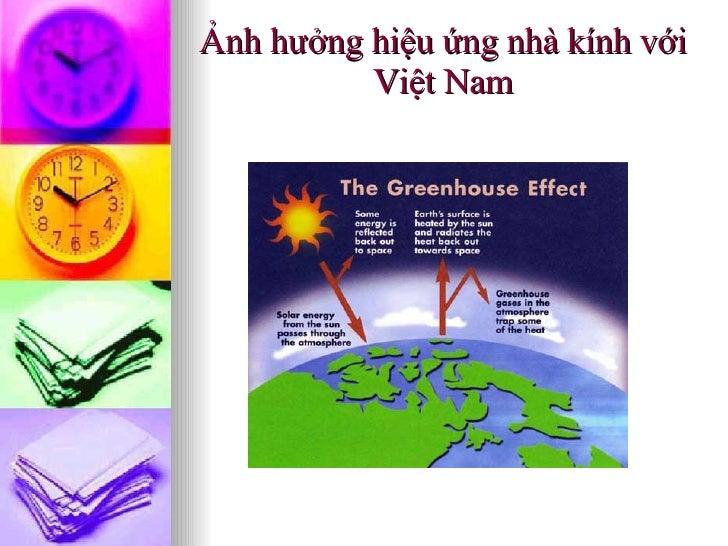 Ảnh hưởng hiệu ứng nhà kính   với Việt Nam
