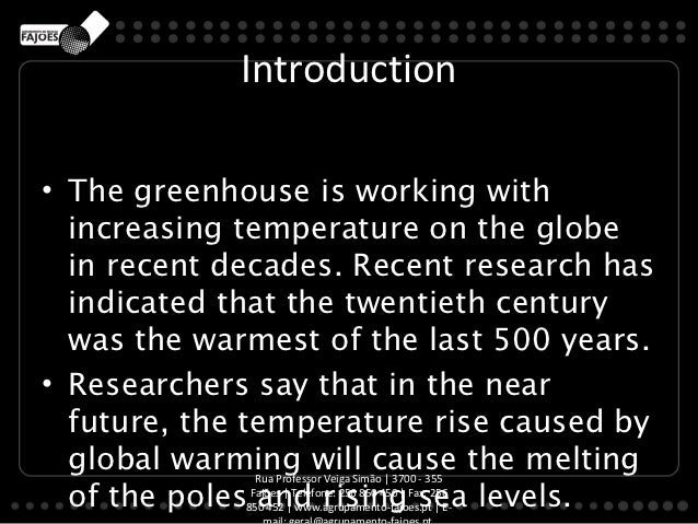 an introduction to the issue of greenhouse effect Current air pollution issues toxic pollution this section is under construction more information on this issue can be obtained by following the link unified air toxics web site greenhouse effect/global warming introduction the  greenhouse effect  is a natural phenomenon that warms up the earth it works on the same.
