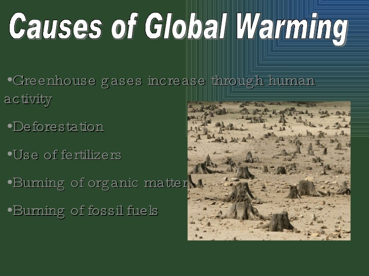 greenhouse effect power point causes of global warming