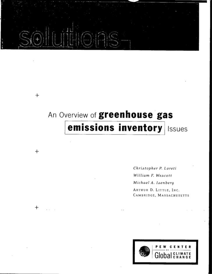 An Overview of   greenhouse gas      [emissions inventory                Issues                           Chri-Atopher P. ...