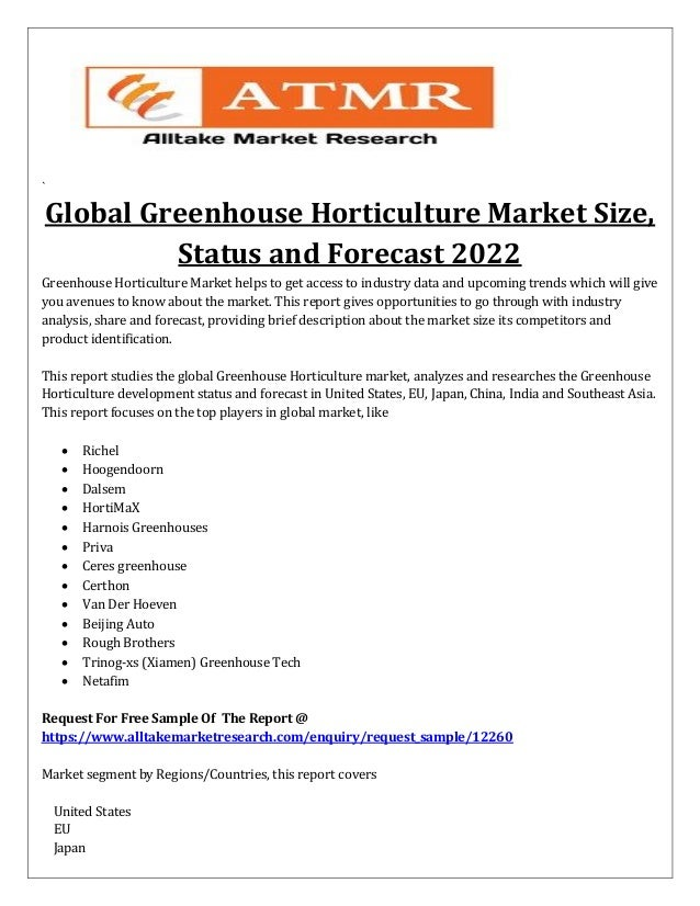 global greenhouse horticulture market size
