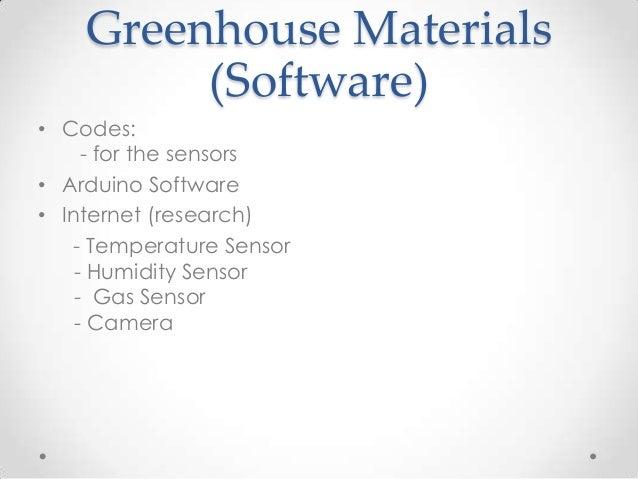 Prossat arduino greenhouse project