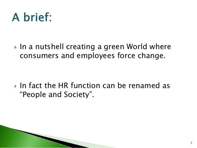 green hrm A presentation on green hrm in the context of the film up in the air.