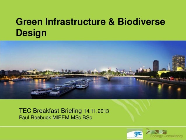 Green Infrastructure & Biodiverse Design  TEC Breakfast Briefing 14.11.2013 Paul Roebuck MIEEM MSc BSc