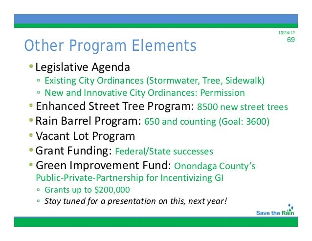 Green Infrastructure Asset Management In Onondaga County