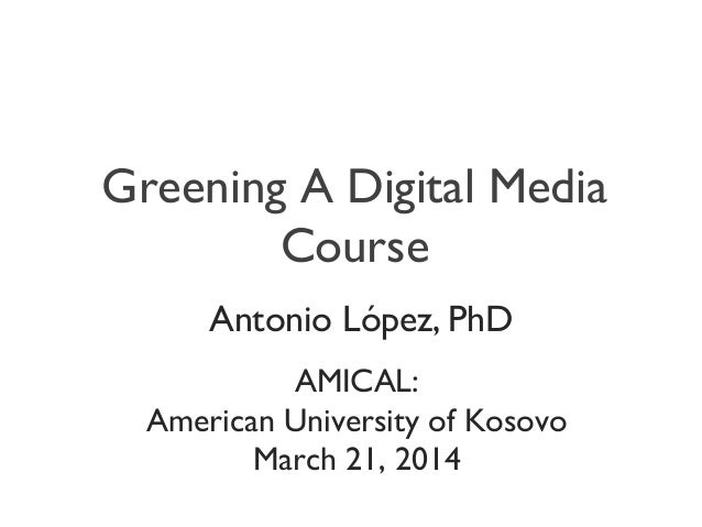 Greening A Digital Media Course