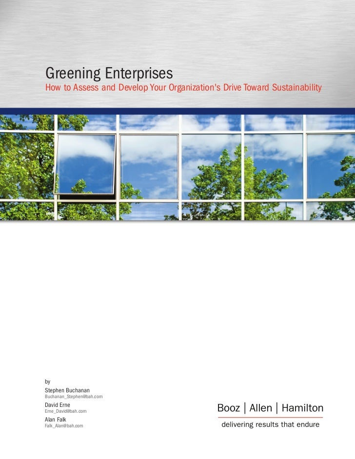 Greening Enterprises How to Assess and Develop Your Organization's Drive Toward Sustainability     by Stephen Buchanan Buc...