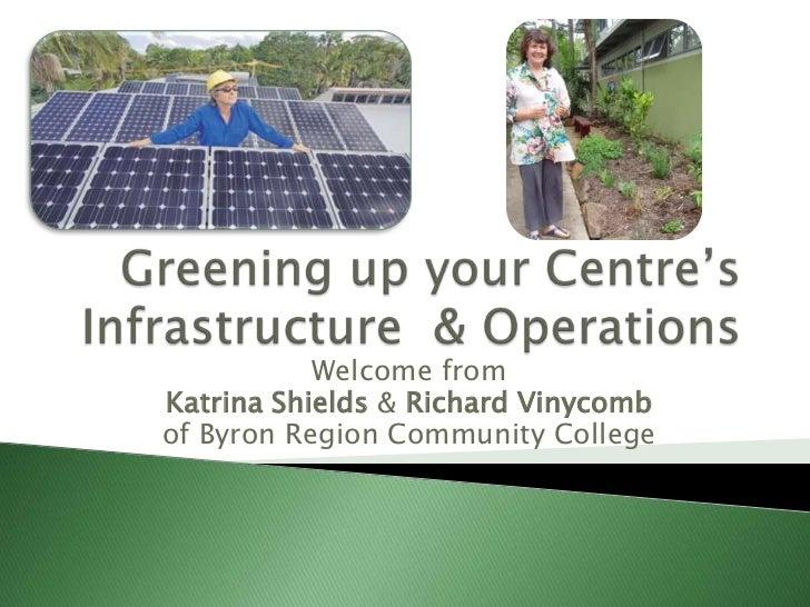 Welcome fromKatrina Shields & Richard Vinycombof Byron Region Community College