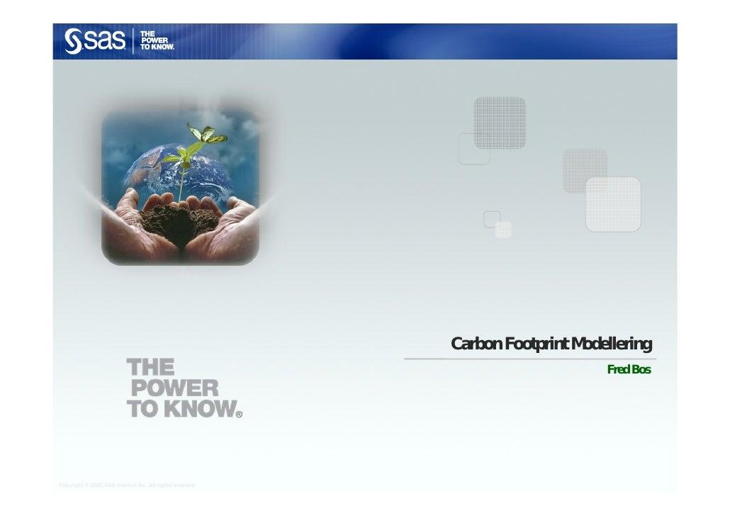 Carbon Footprint Modellering                                                                                  Fred Bos    ...