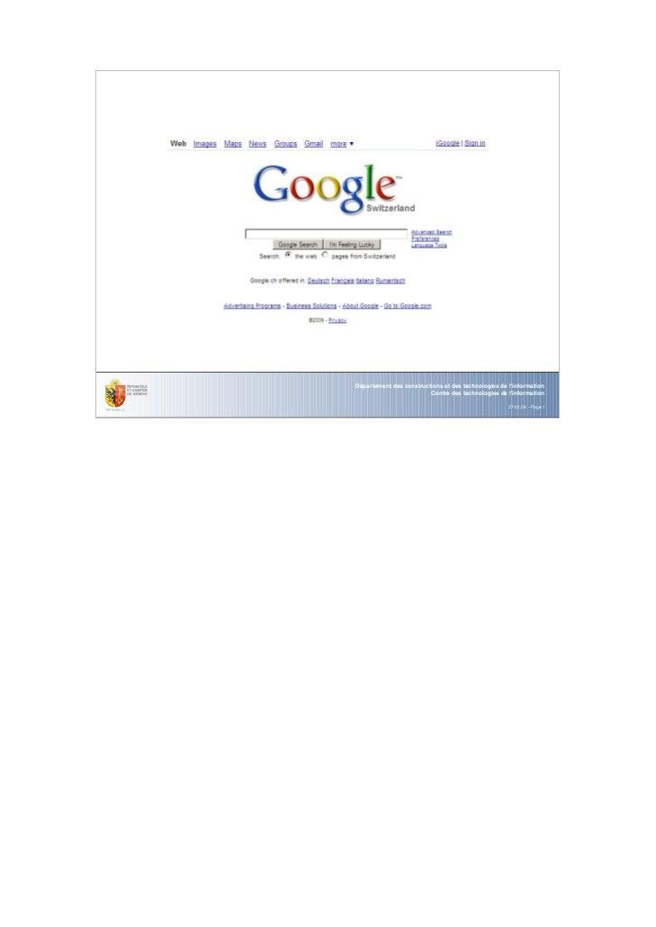 Département des constructions et des technologies de linformation                         Centre des technologies de linfo...