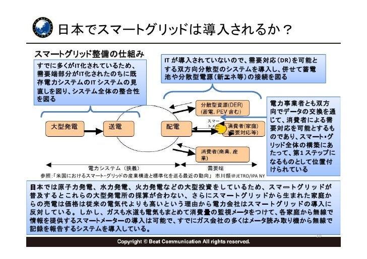 日本でスマートグリッドは導入されるか? スマートグリッド整備の仕組み                               IT が導入されていないので、需要対応(DR)を可能と  すでに多くがIT化されているため、           ...