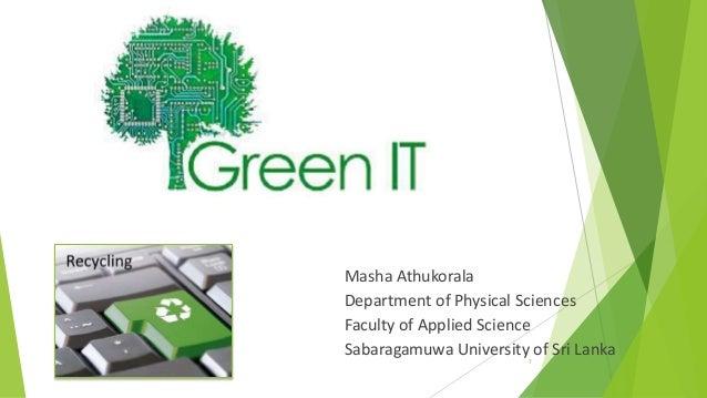 Masha Athukorala Department of Physical Sciences Faculty of Applied Science Sabaragamuwa University of Sri Lanka 1