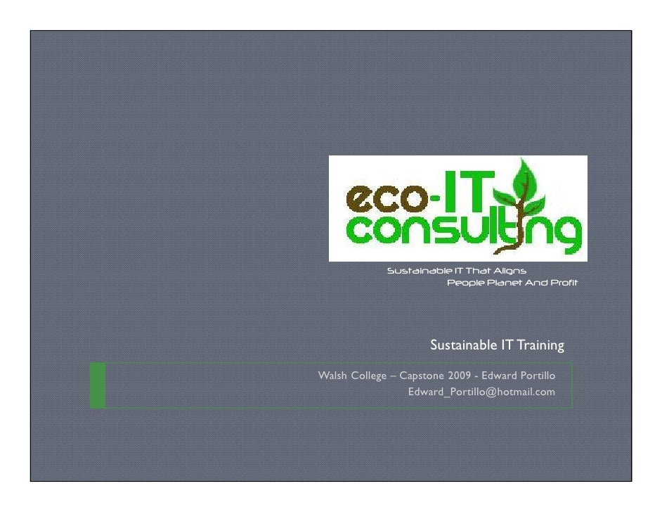 Sustainable IT That Aligns                        People Planet And Profit                           Sustainable IT Traini...