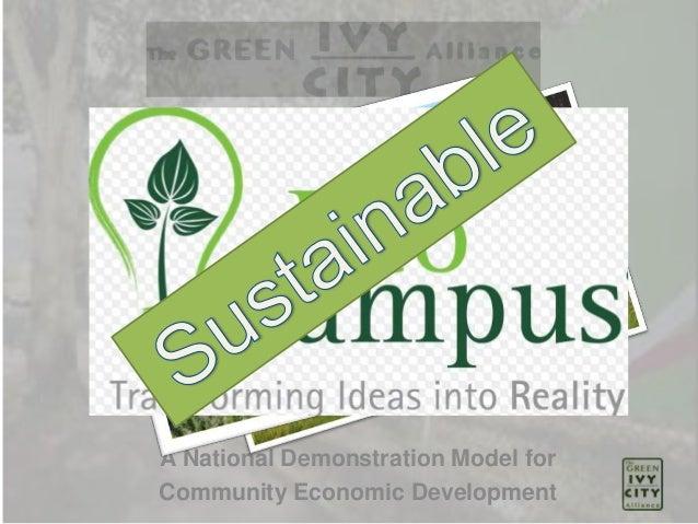 A National Demonstration Model for Community Economic Development