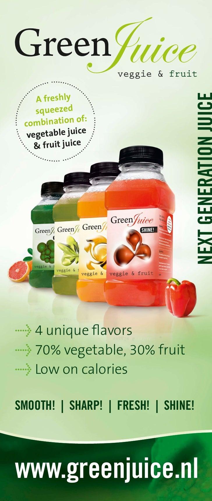 veggie & fruit      A  fre shly     s que ezed  com  bina  tion  of:   veg eta ble j uice     & fr uit j uice     > 4 uniq...