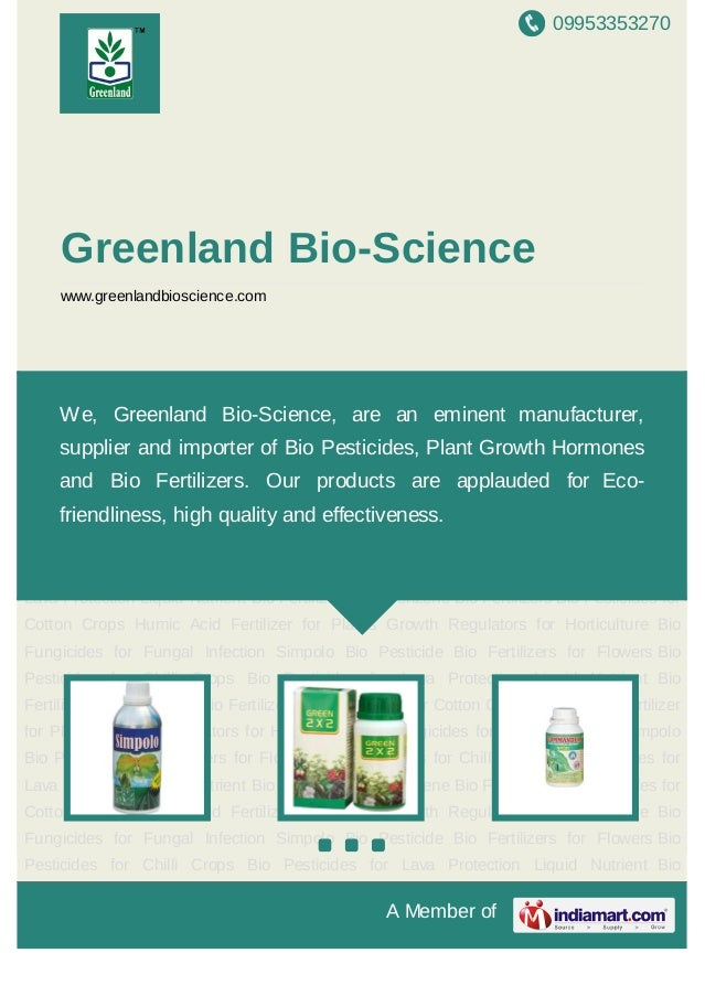 09953353270A Member ofGreenland Bio-Sciencewww.greenlandbioscience.comSimpolo Bio Pesticide Bio Fertilizers for Flowers Bi...