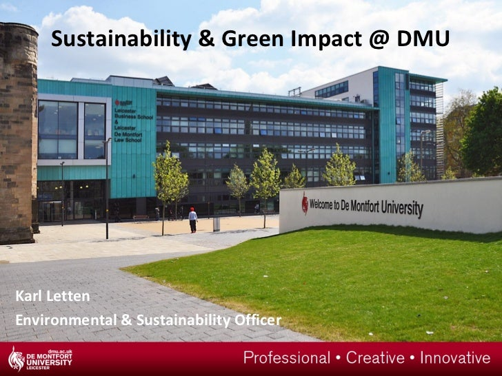 Sustainability & Green Impact @ DMUKarl LettenEnvironmental & Sustainability Officer