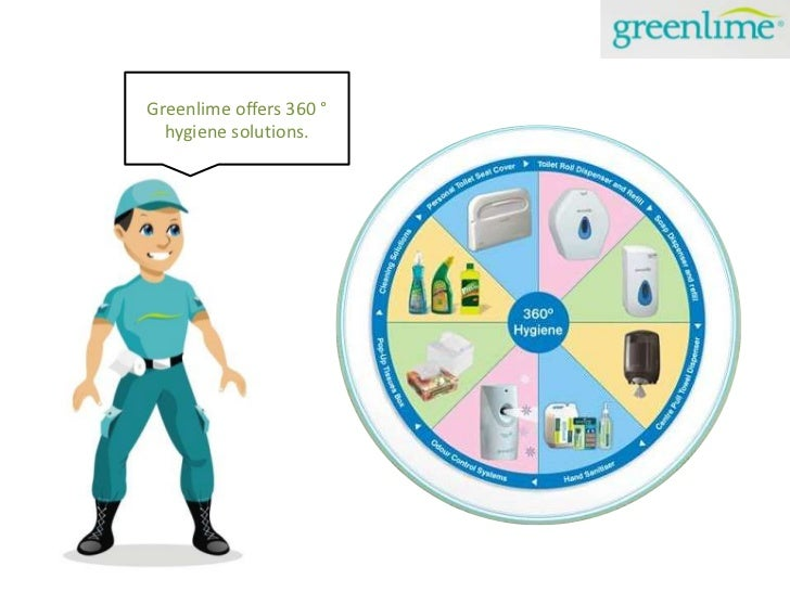 Greenlime offers 360°<br />hygiene solutions.<br />