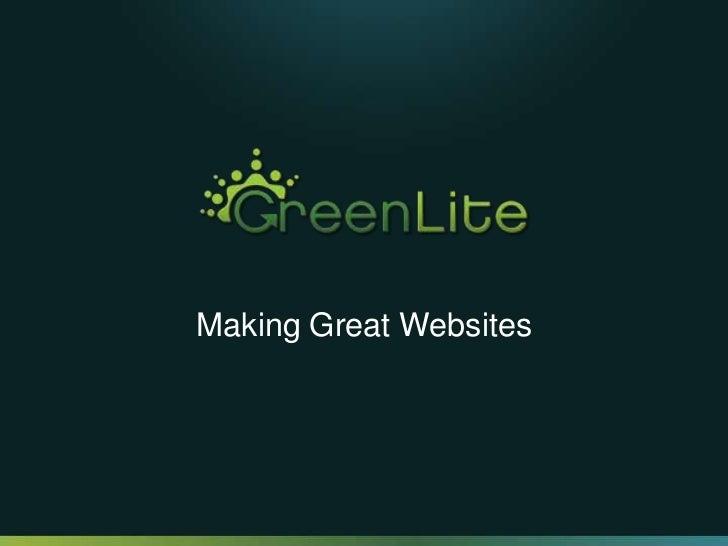 Making Great Websites