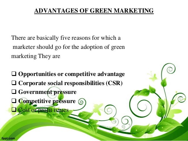 disadvantages of green marketing pdf