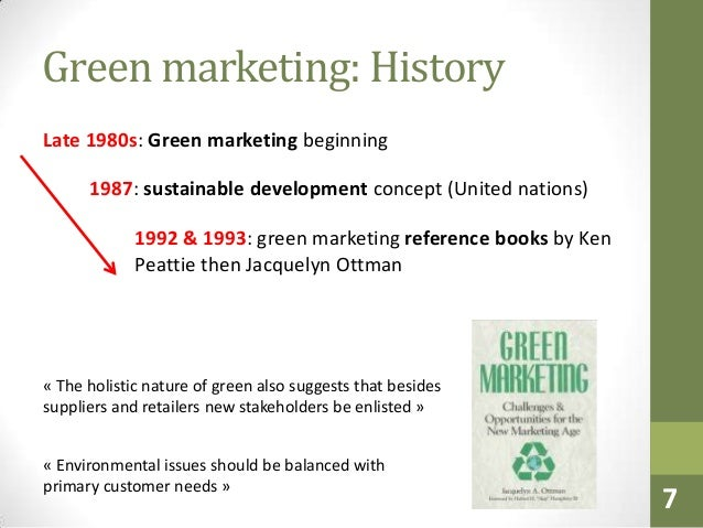 the concept of green marketing Browse the definition and meaning of more terms similar to green marketing the management dictionary covers over 7000 business concepts from 6 categories.
