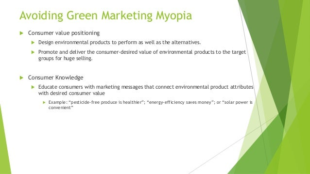 An investigation of green marketing practices